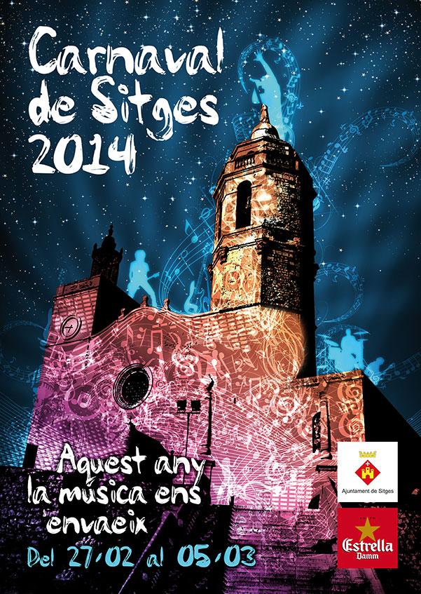 Cartel oficial Carnaval de Sitges 2014